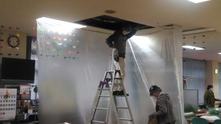 エアコン改修工事が始まりました