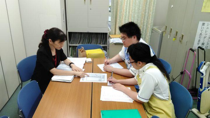 大原学園介護実習の巡回指導がありました。