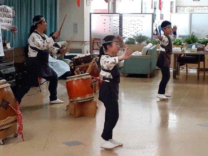 千葉寺 千龍太鼓さんの演奏で新年会