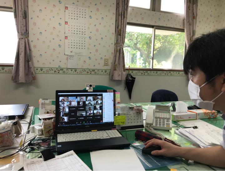 誉田訪問看護ステーションでもZoom研修会に参加
